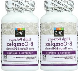 High Potency B-Complex with Vitamin C 750 mg ~ 180 Vegan Ta