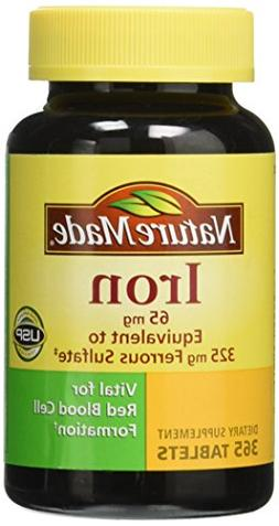 Nature Made Iron 65 mg -  365 Tablets Dietary Supplement Lon