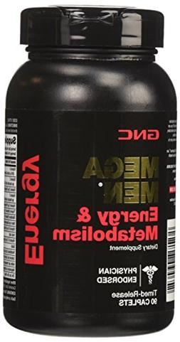 GNC Mega Men Energy and Metabolism Supplement, 90 Count